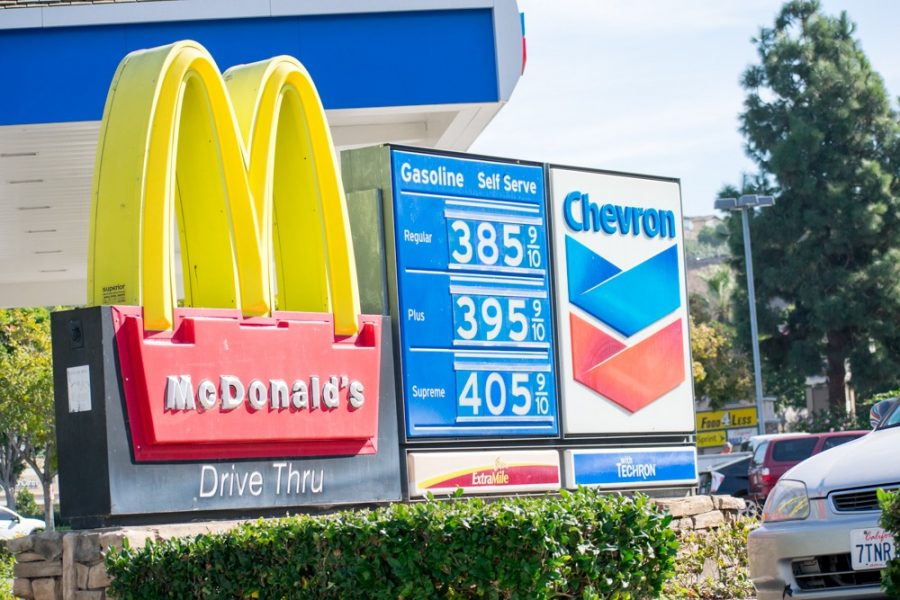 Picture of McDonald's near Chevron