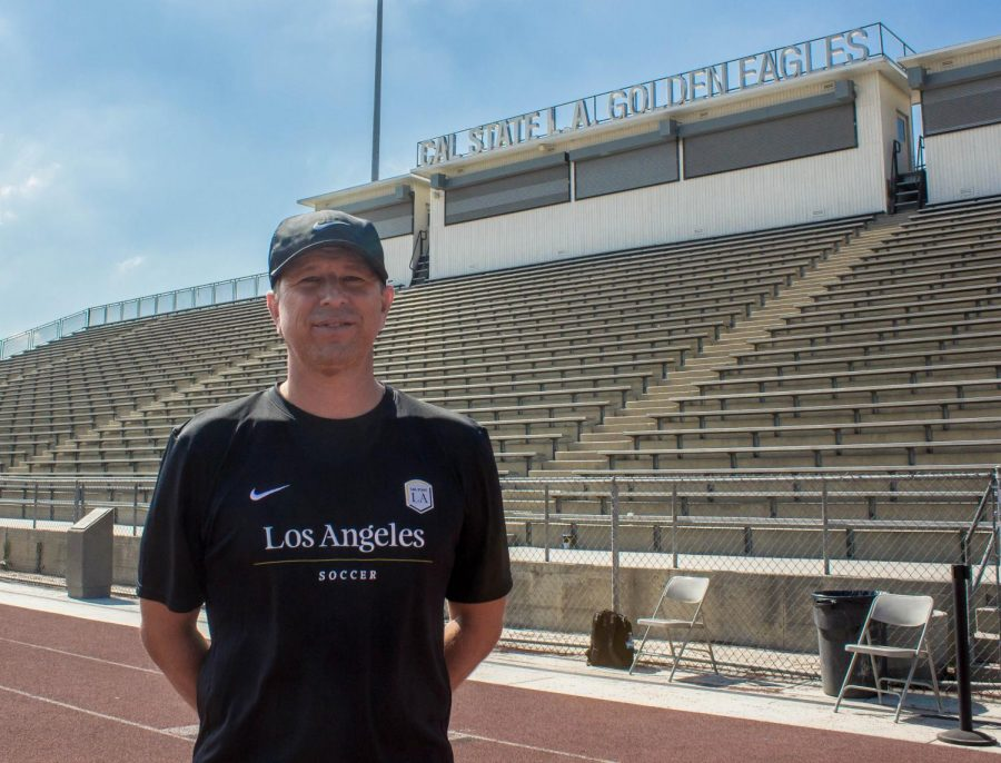 CSULA coach, posing for his picture.