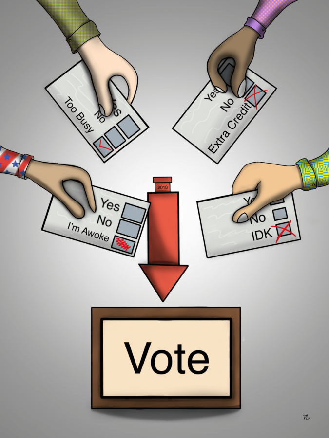 Diverse picture of listing excuses of voting ballots