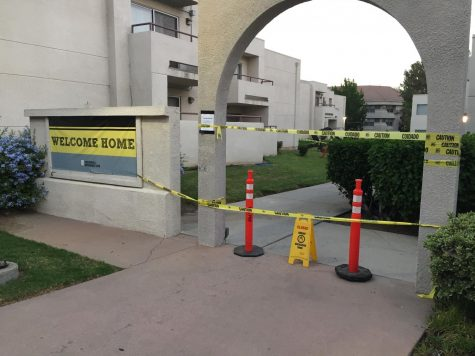 Water pipe bursts at Cal State LA housing complex