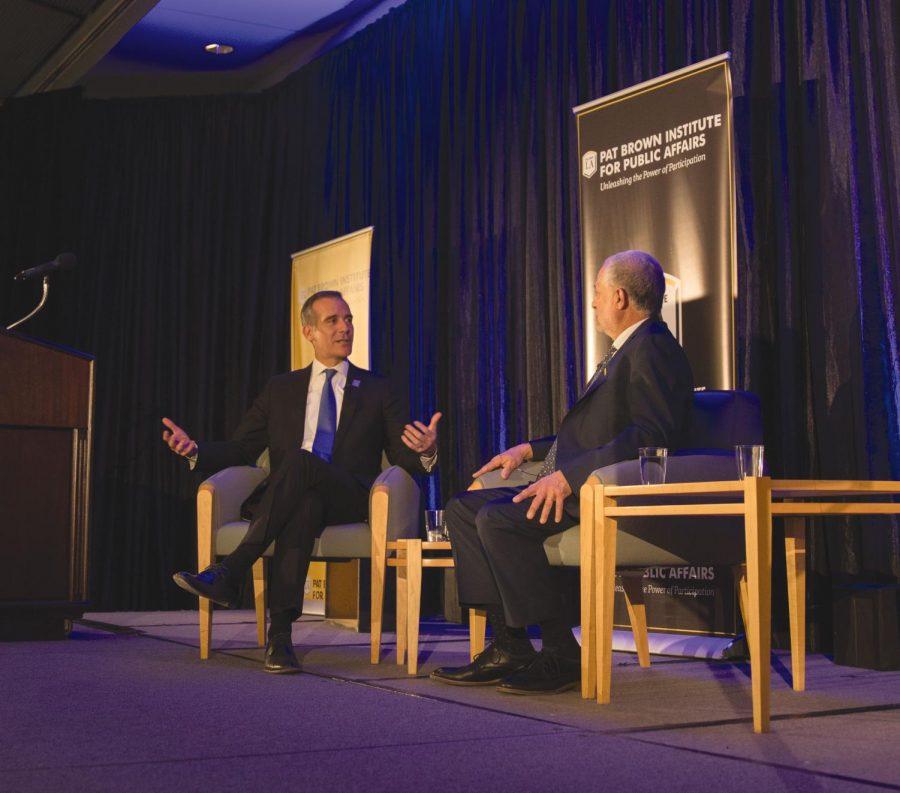 Eric+Garcetti+talks+about+a+potential+2020+presidential+run.+Photo+by+Brian+Delgado
