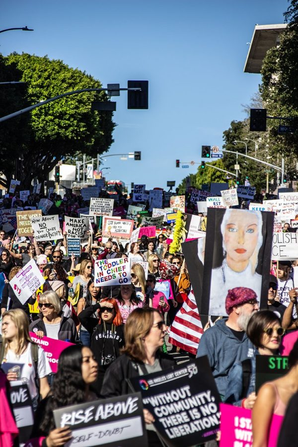 Thousands+of+attendees+march+from+Pershing+Square+to+Grand+Park+in+downtown+Los+Angeles+in+honor+of+the+3rd+Annual+Women%E2%80%99s+March+on+Saturday%2C+Jan.+20%2C+2019.+Photo+By+Marisa+Vasquez