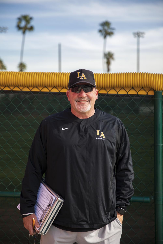 Vince Beringhele, the Cal State LA baseball head coach