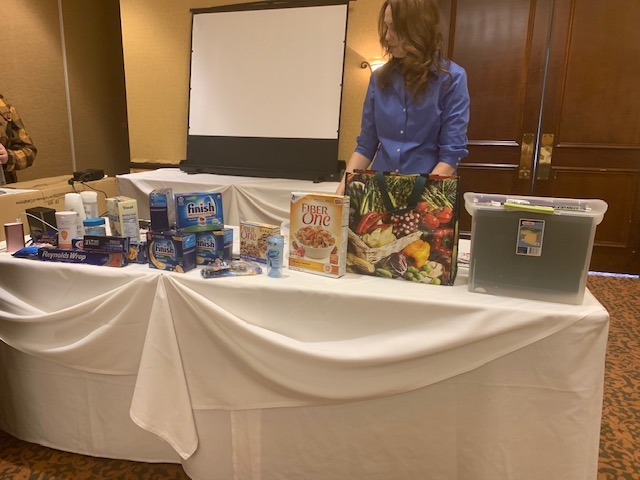 Charity Hauke leads an extreme couponing workshop in Alhambra. (Dawin Lopez/ Community News)