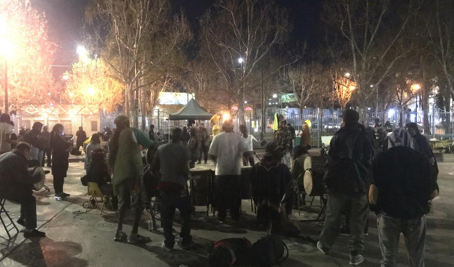 Musicians jam out at the Leimert Park Art Walk. (Rosio Flores/Community News)