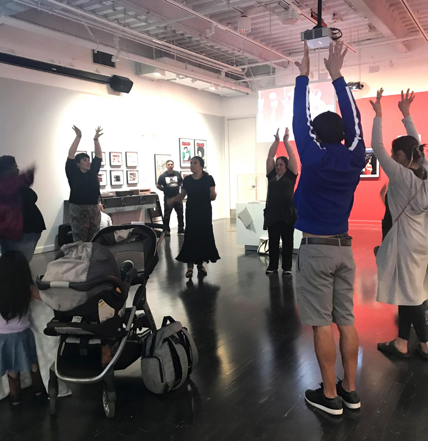 Museum goers enjoy participatory art on the Eastside. (Fernanda Hernandez/Community News)