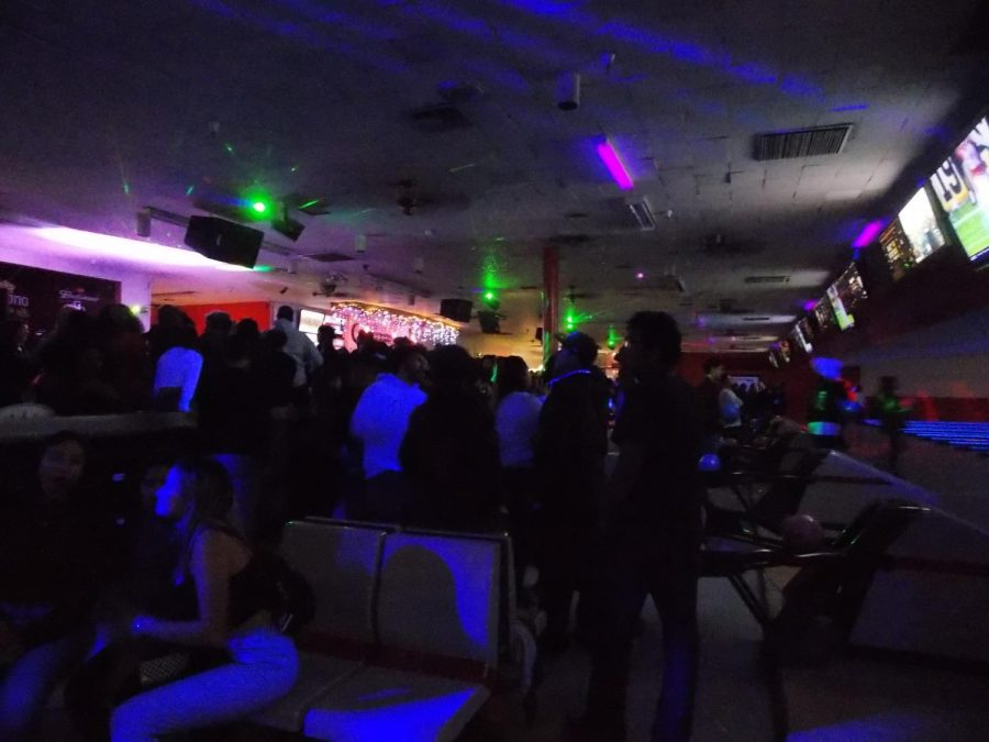 Students Enjoying the bowling night