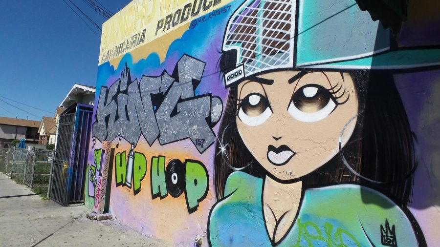 Murals like this one beautify the streets of South L.A. Photo by Rosio Flores.