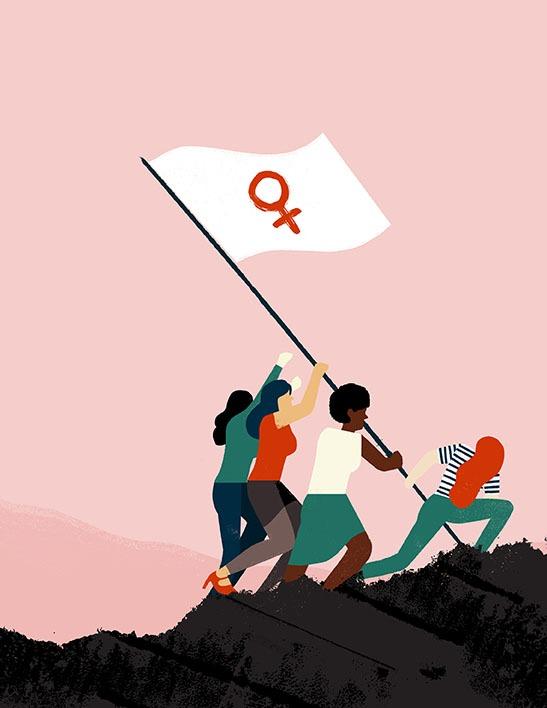 Cuatro+mujeres+plantando+una+bandera+%2F+Getty+Images+