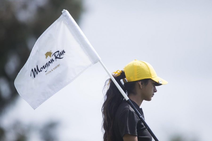 Golden Eagles' Caitlyn Jimenez participates in her first CCAA Championship Tournament at the Morgan Run Club & Resort.