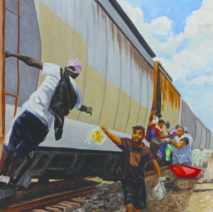 Picture+of+%22De+la+serie+de+pinturas+%22Mujeres+Luz+y+Caravana+Migrante%22+Claudio+Talavera%22