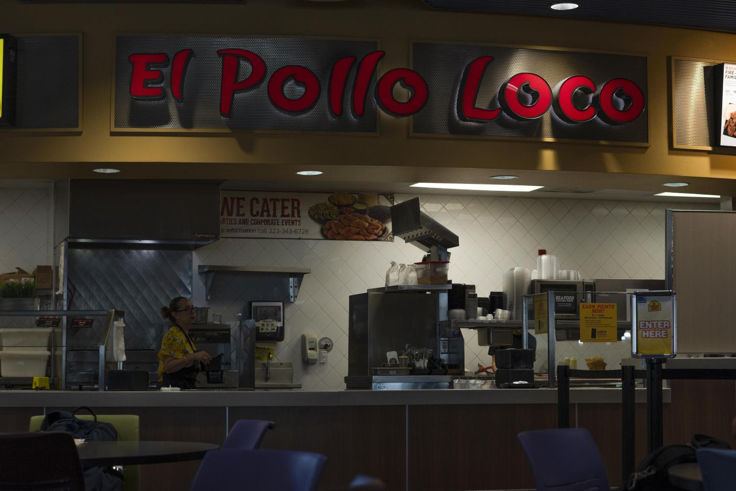 Inside view of El Pollo Loco.