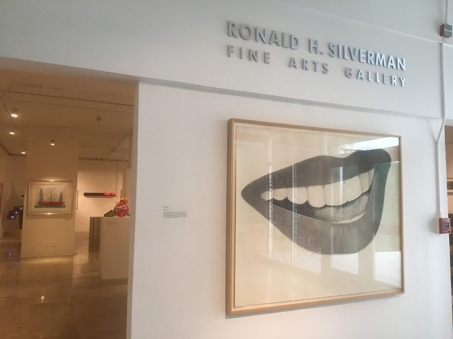 Tom+Wesselmann%27s+Study+for+Mouth+No.+4+is+the+first+piece+of+artwork+displayed+at+the+Pop+Culture+exhibit+at+Cal+State+LA%27s+newly+renamed+fine+arts+gallery+titled+the+Ronald+H.+Silverman+Fine+Arts+Gallery
