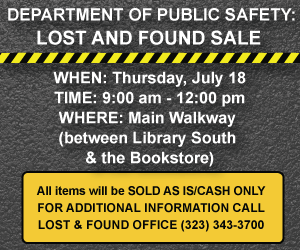 Public Safety Lost and Found Advertisement