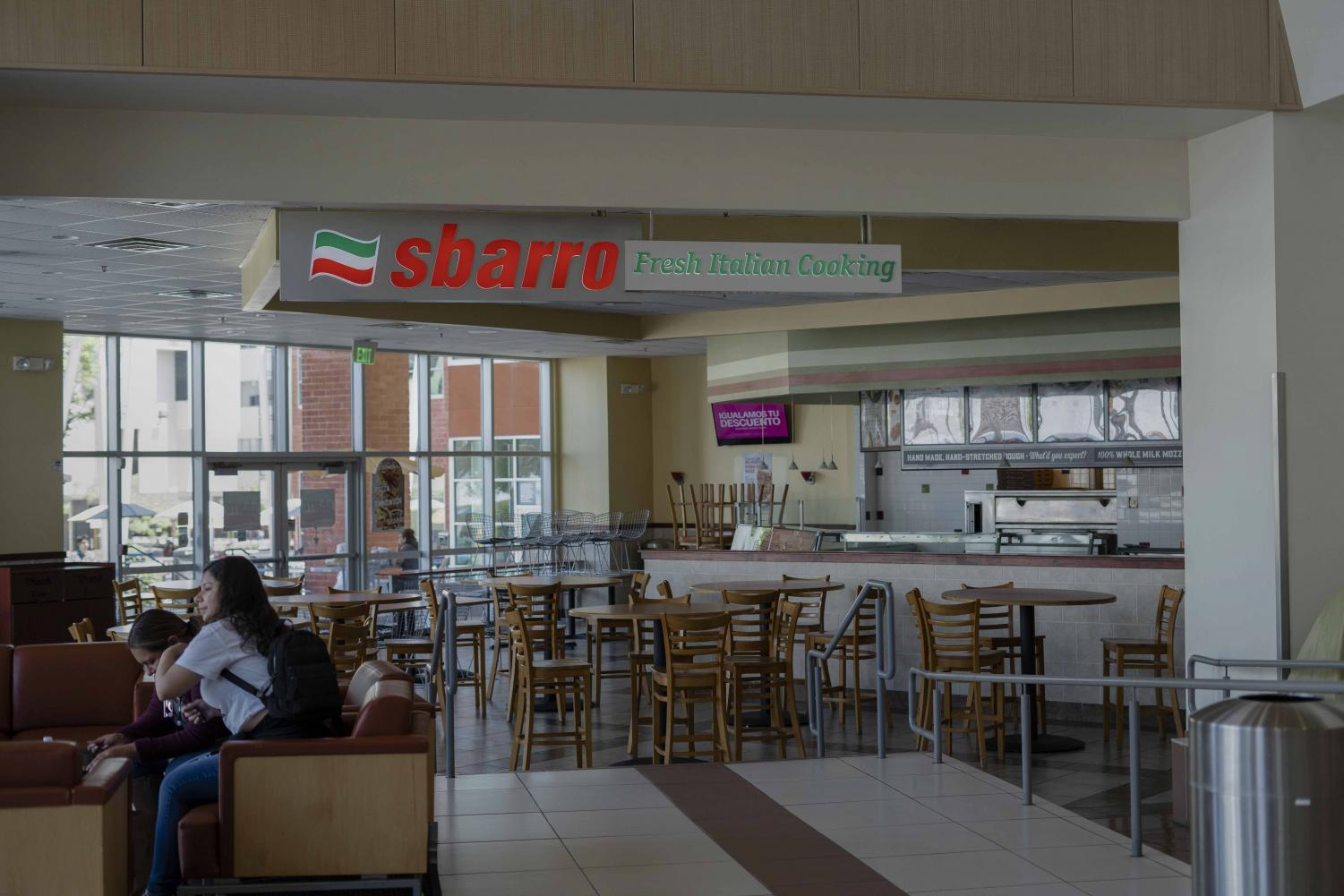 Inside view of Sbarro.