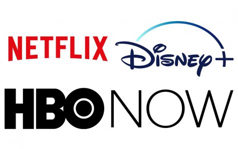 Netflix, Disney + and HBO Now logos compiled by Brian Delgado.