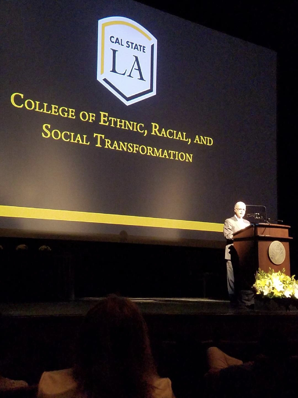 President Covino speaks at the keynote.