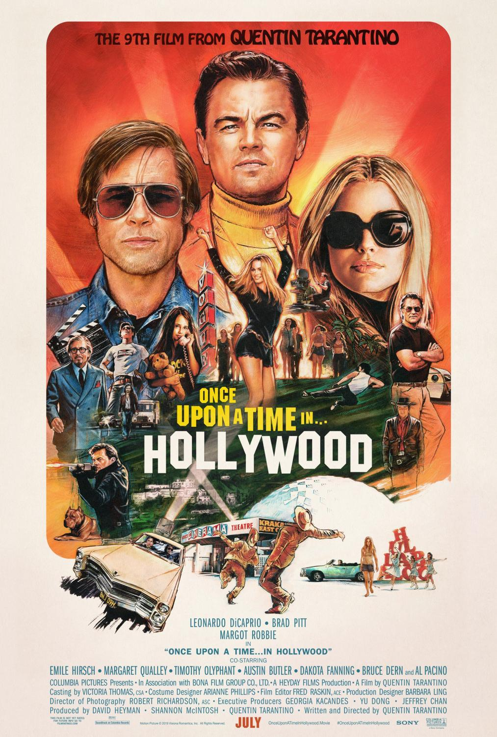 Once Upon a Time in Hollywood Press Release Poster.
