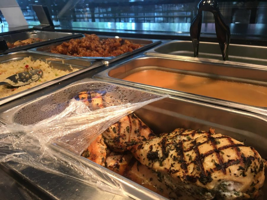 The Spot's menu changes on a daily basis and is prepared by Golden Eagle Hospitality.