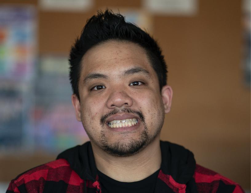Photo of Christopher Lazaro, Staff Reporter.