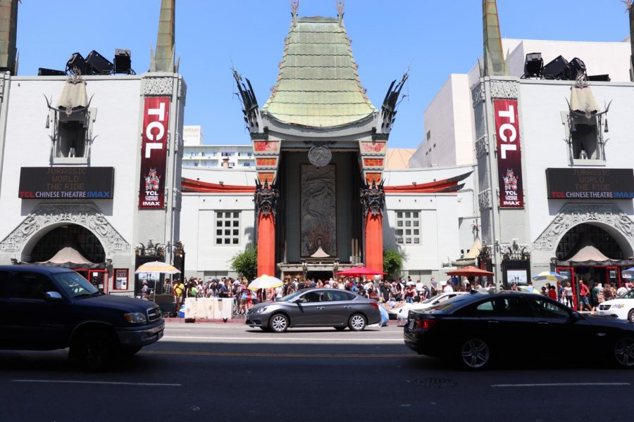 The TCL Chinese Theatre IMAX Entrance on the Heart of Hollywood Boulevard.