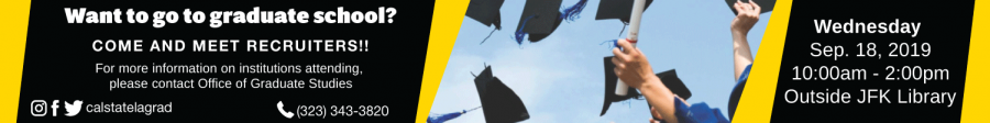 leaderBoard ad for Graduate and Professional Schools Recruitment Fair