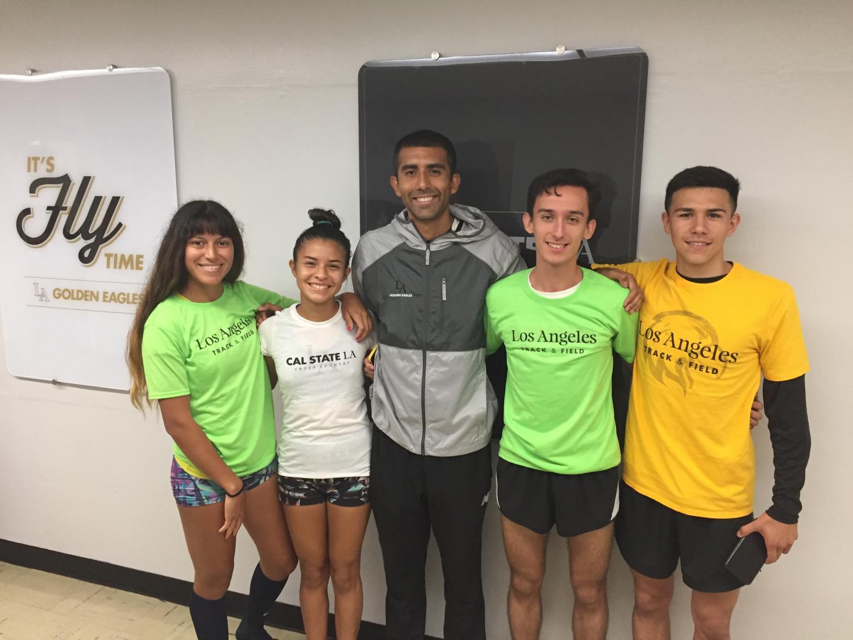 From left to right: Rebecca Morales, Rebecca Ruiz, Assistant Coach de la Cruz, Moises Marquez, Carlos de la Torrez