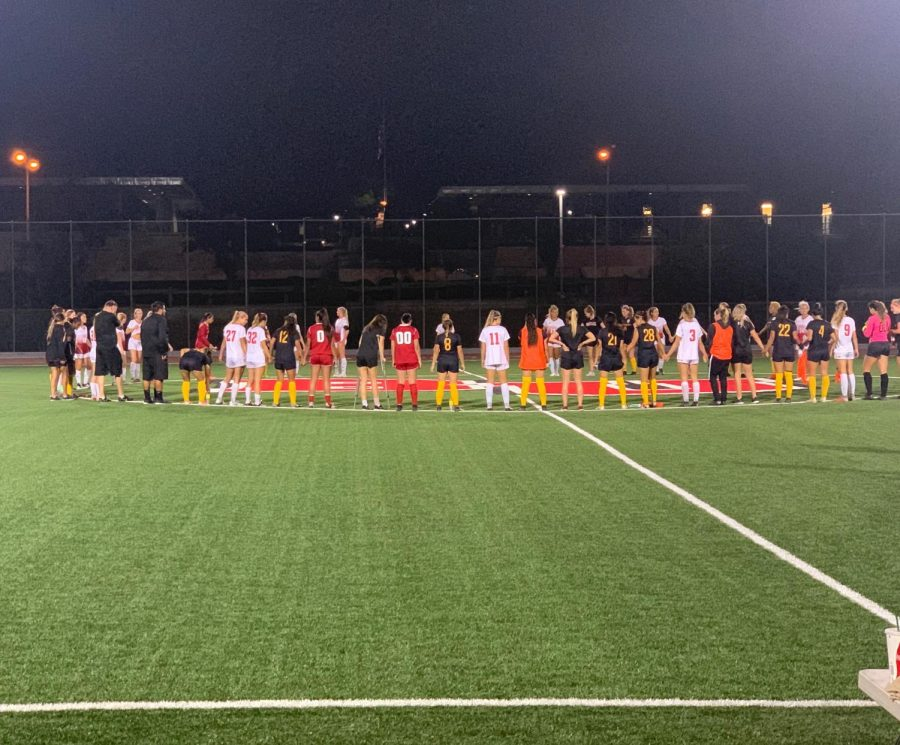 Biola and Cal State LA show unity postgame after Cal State LA 2-1 victory