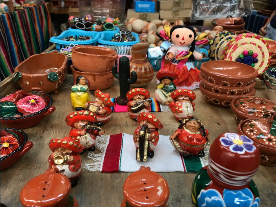Handcrafted pottery is sold at 'El Mercadito.' (Meghan Bravo/UT)