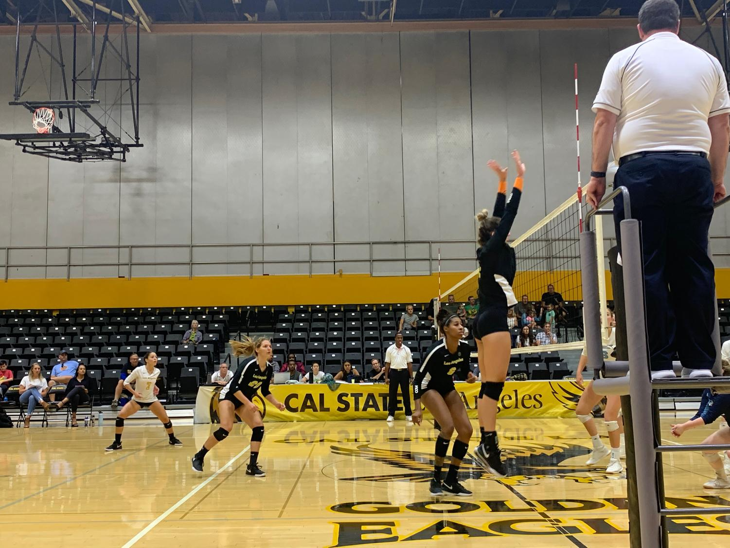 Cal State LA women's volleyball scrapes by in a 3-2 game against Sonoma State.
