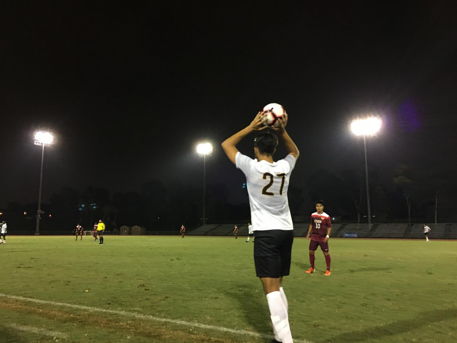 Cal State LA men's soccer won against Cal State Dominguez Hills in a game of 6-0.