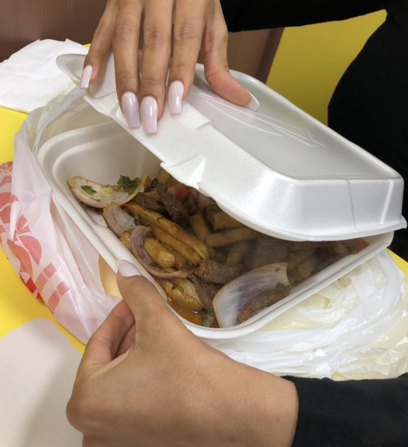 Styrofoam containers such as this one are popular for take-out food but they can also create environmental hazards.