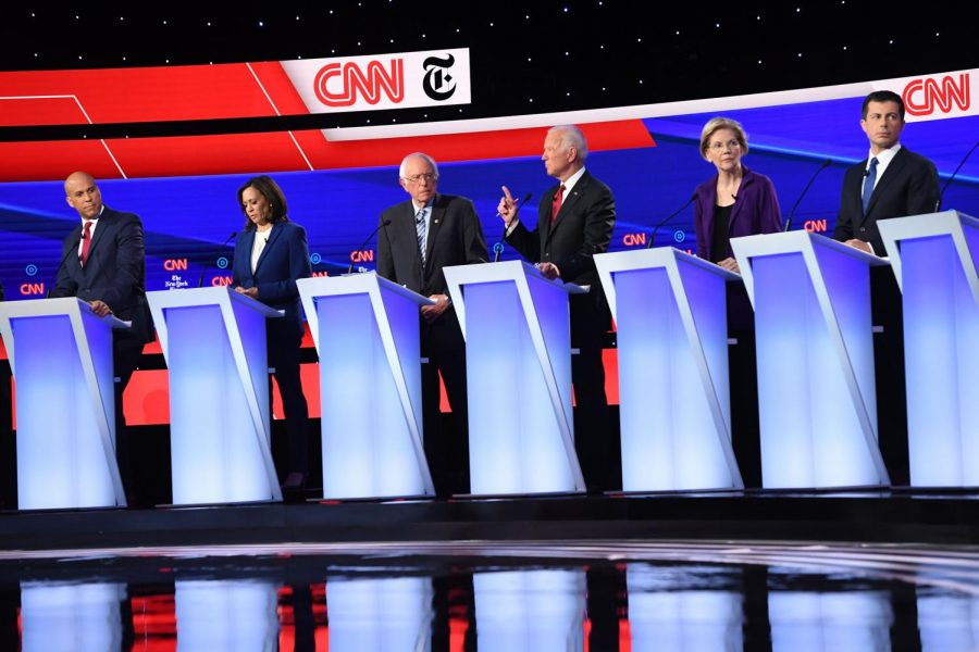 The+fourth+Democratic+Debate+took+place+at+Otterbein+University+in+Westerville%2C+Ohio+on+October+15%2C+2019.+