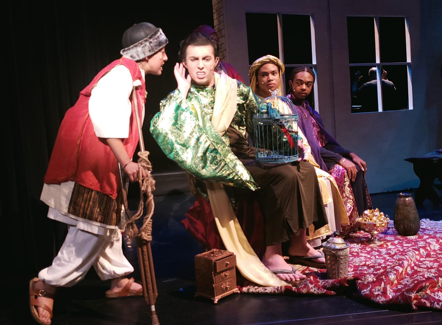 Amahl asks King John Culpepper if his small box has a cure for his broken leg.
