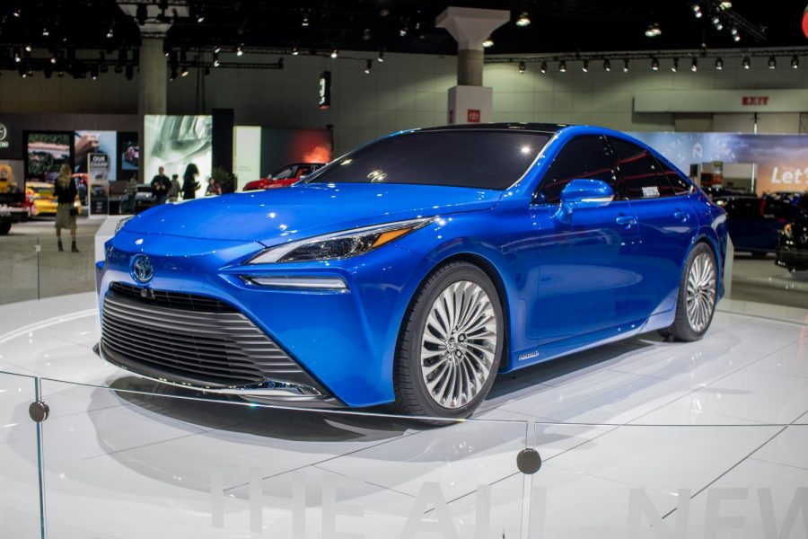 The brand new Toyota Mirai was featured as a prototype in this year's LA Auto Show.