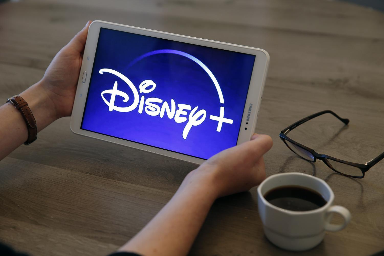 Disney Plus on a Samsung tablet.