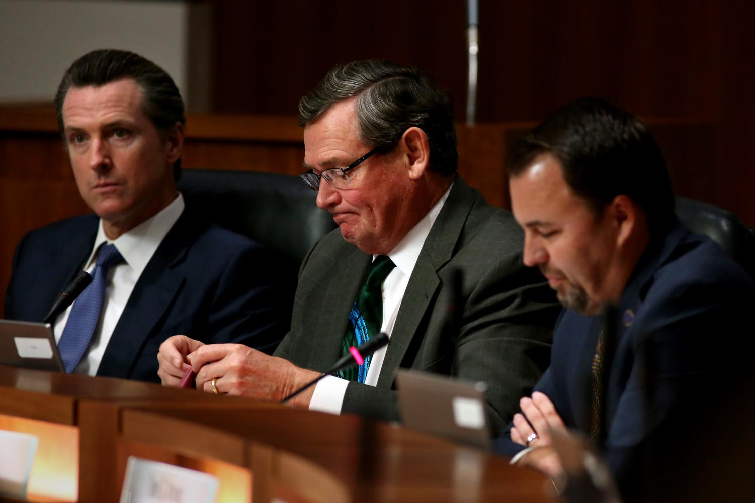 CSU Chancellor, Timothy P White, at the California State University Board of Trustees meeting in 2015.
