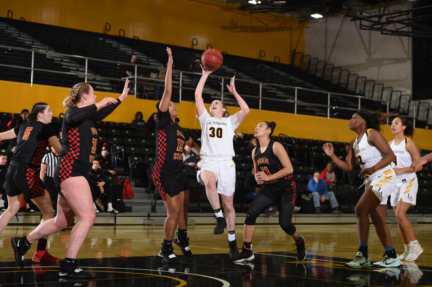 Cal State LA's women's basketball takes home a win against Stanislaus State 69-60