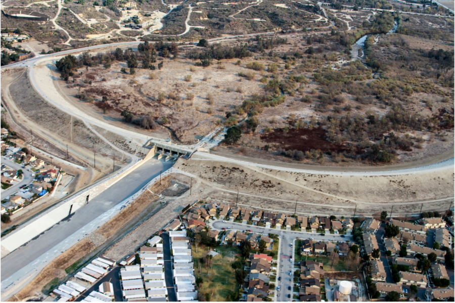 The U.S. Army Corps of Engineers included on its website a bird's eye view of Whittier Narrows Dam in Pico Rivera.