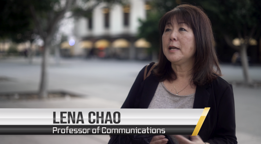 Screenshot of Lena Chao from the Campus Voices Youtube video