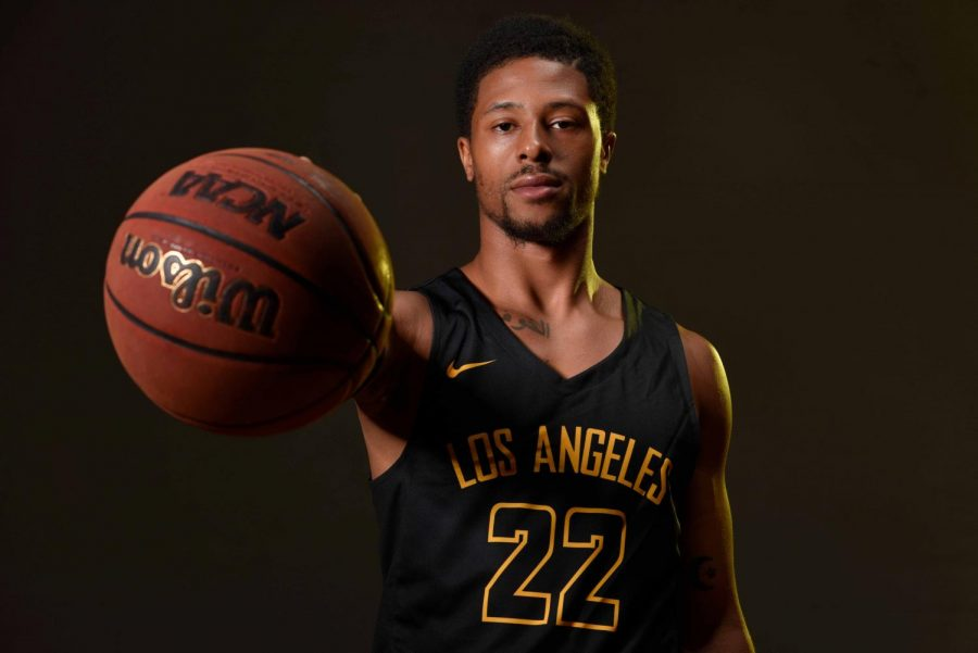 All-CCAA second team player, Cal State LA first team leader