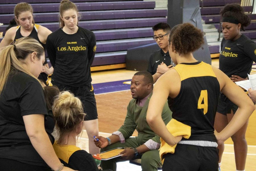 In his first year as head coach, Torino Johnson led the Cal State LA women's basketball team to a 12-16 record, three more wins than the previous season.