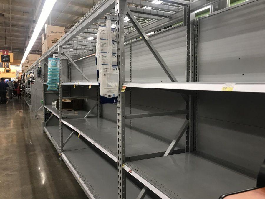Las tiendas están vacías debido al Coronavirus