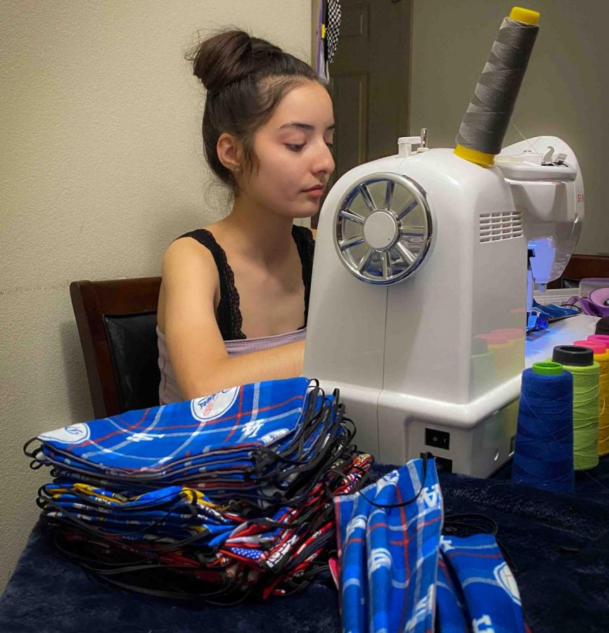 Kaitlyn Ayala sews masks in her free time (Courtesy of Kaitlyn Ayala)