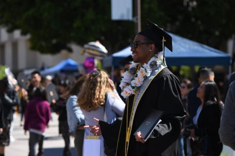 As of now, Commencement 2020 will be held at a later date this year. Photo courtesy of Cal State LA photo archives.