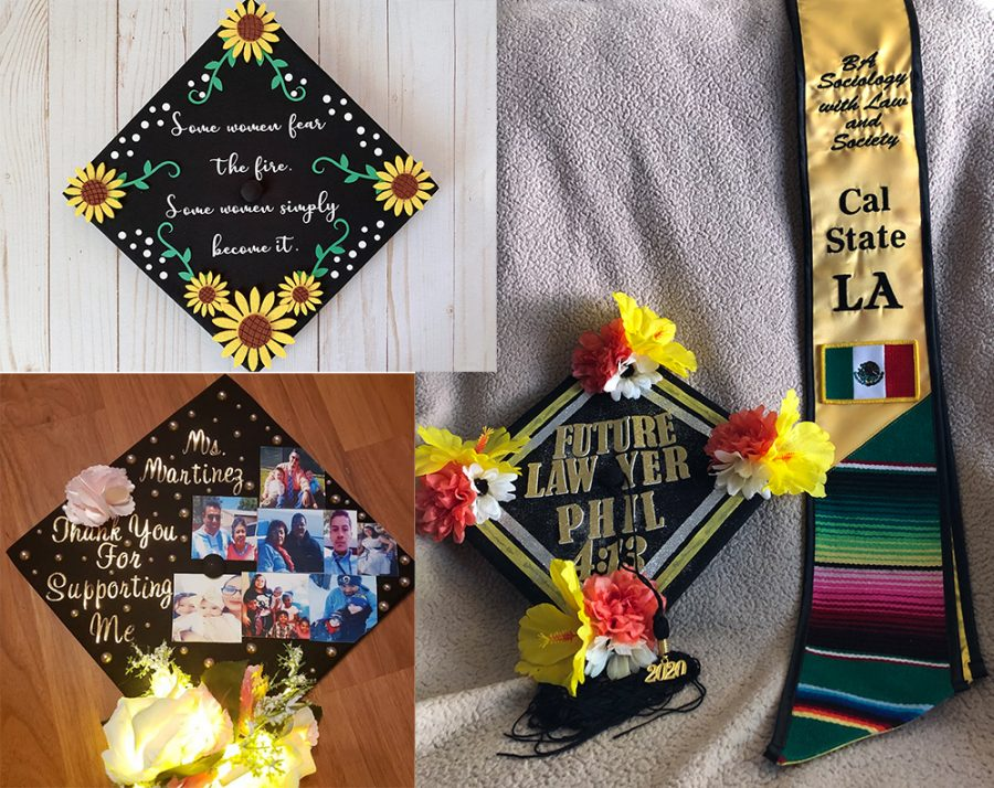 Cal State LA Decorated Graduation Cap Showcase