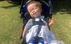 Gabriel Posadas, 2, born with with a rare genetic disorder called Larsen's Syndrome, which affects the development of bones throughout the body.