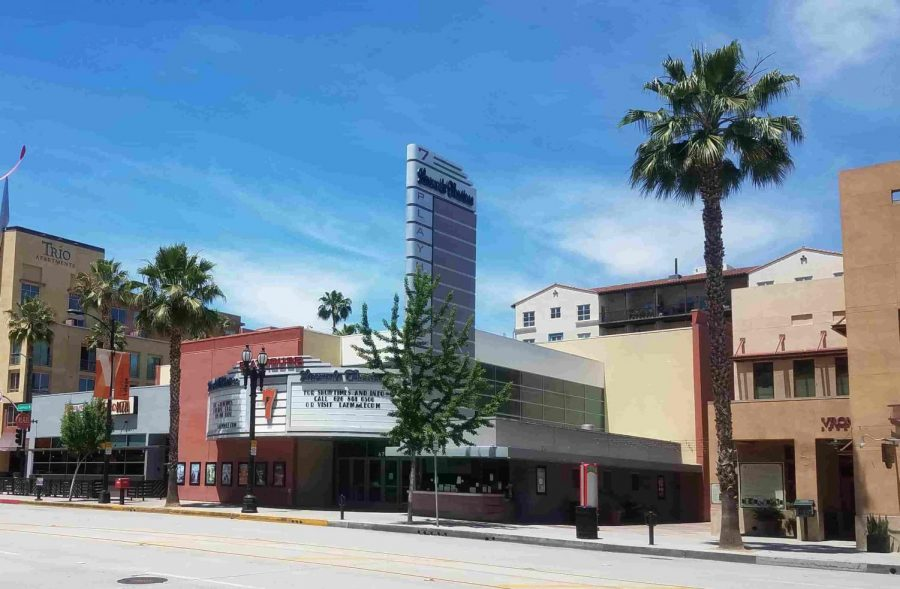 Throughout the Los Angeles area, theaters like this one in Pasadena are closed amid the coronavirus outbreak.