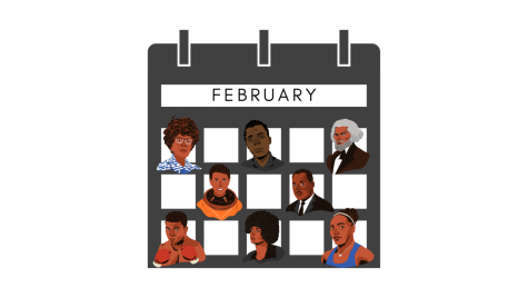 Graphic of a calendar with important people
