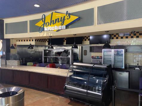 Photo shows a closed Johny's Kitchen.